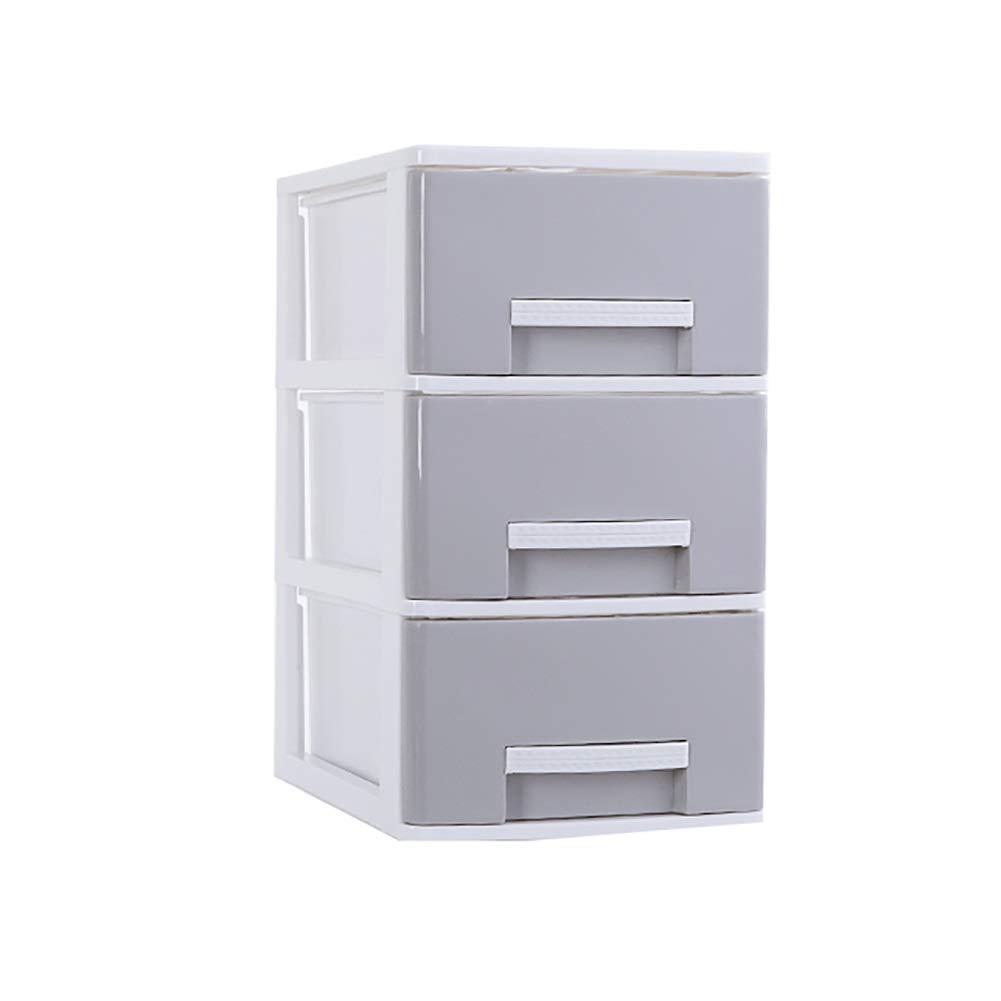 RRH-Desktop File Cabinet, Mobile File Cabinet, 3-Layer Drawer Storage Box, A4 Paper Data Cabinet File Box, Office Desktop Storage File Cabinet File Cabinet (Color : Gray, Size : A) by RRH