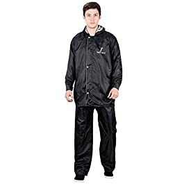 FabSeasons Reversible Waterproof Raincoat with Adjustable Hood and Reflector at Back for Night Visibility. Pack Contains…