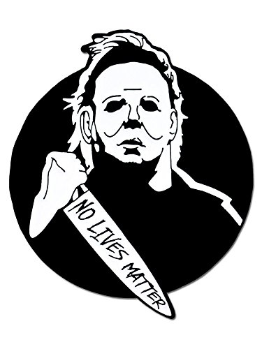 PinMart Michael Myers No Lives Matter Halloween Enamel Lapel (Halloween Movie Mike Myers)