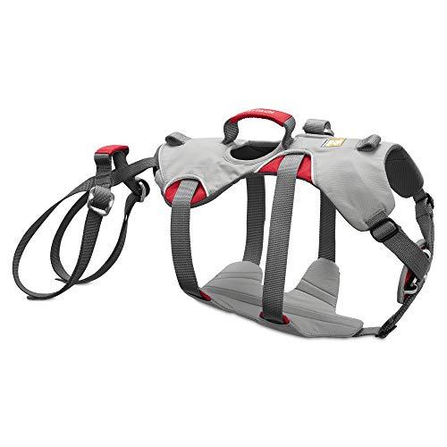 RUFFWEAR - Doubleback, Strength-Rated Belay Dog Harness, Rock Climbing & Backpacking, Strength-Rated to 2,000 lbf/8.9 kN, Cloudburst Gray, Medium
