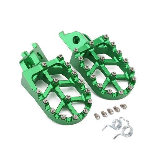 - JFG RACING Green Billet MX Wide Foot Pegs Footpegs Foot Pedals Rests For Kawasaki KX250F 2006-2016, KX450F 2007-2016, KLX450R 2008-2013