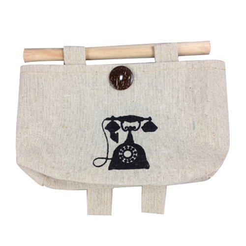 [GreenSun(TM) Linen Cotton Storage Bag hanging closet jewelry storage pockets Telephone 1812cm] (1812 Telephone)