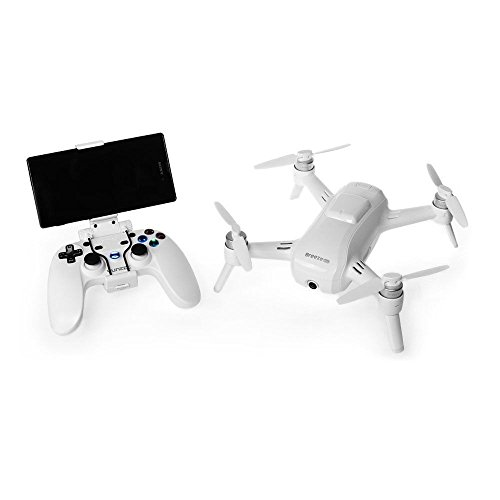 Yuneec YUNFCAUS Breeze Compact Smart Drone Ultra HD 4K Video, White