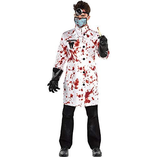 Scary Dentist Halloween Costume (amscan Demented Dentist Halloween Costume for Men, Standard Size, with Included)