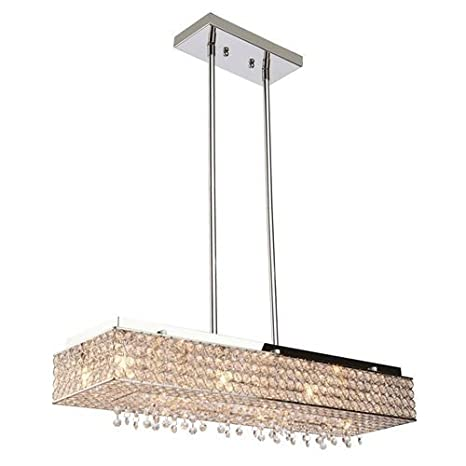 8 lights crystal linear chandelier crystal pendant rectangular bella 8 lights crystal linear chandelier crystal pendant rectangular bella vista lighting fixture light 28quot stainless aloadofball Choice Image