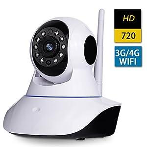 AMKATO HD 720P Wireless IP camera H.264 WIFI IP Security Home Sureillance Camera with P2P Night Vision Baby Monitoring