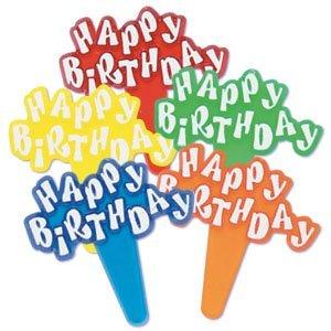 Happy Birthday Cupcake Picks - 24 pc - Happy Birthday Pick Shopping Results