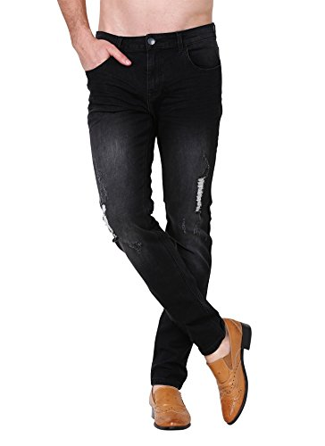 Slim Fit jeans, ZLZ Men's Ripped Distressed Destroyed - 28x32 Jeans
