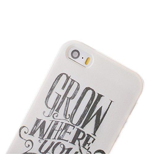 Vanki® Fundas iPhone 5S 5 SE, Suave TPU Funda Parachoques Funda Absorción de Impactos y Anti-Arañazos Case Cover Carcasa Para iPhone 5S 5 SE 9