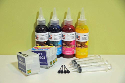INKXPRO Brand XPRO Series True Color Sublimation Ink T252 Ink Refill kit for Workforce WF 7710 7720 7210 7110 7610 7620 3620 3640 Printers (for Sublimation Printing only)