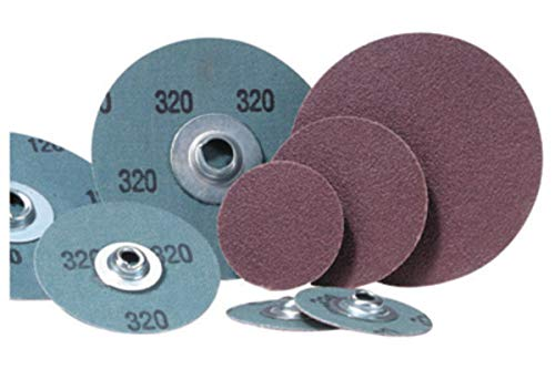 Merit 2'' X 2-Ply 50 Grit Coarse Grade Aluminum Oxide Powerlock FX Brown TS (Type II) Heat Pressed Resin Bond Coated Cloth Disc by Merit Abrasives Products Inc (Image #1)