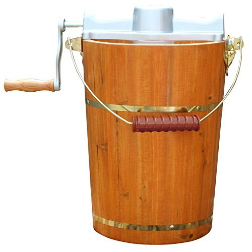 Old Fashioned Hand Crank Ice Cream Maker - 8