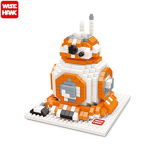 Wisehank Micro Blocks Star Wars Action Figures DIY Assembly - BB8 Model