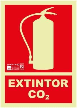 Astlight INC4067.7FJ Señal de extintor co2 fotoluminiscente ...