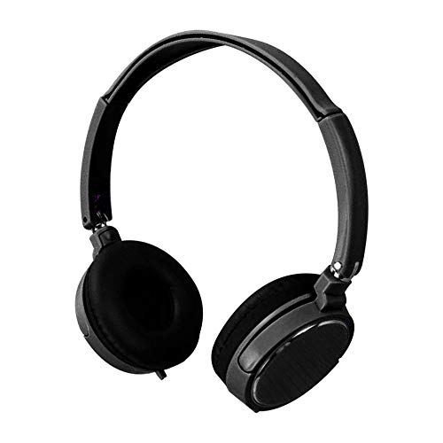 BabiQ Wired Over Ear Headsets - 3.5MM Wired Connector Wire Headphones On Ear Foldable Stereo Headset for Earphone (Black)