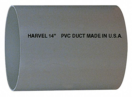 6'' x 10 ft. PVC Round Duct Pipe by HARVEL