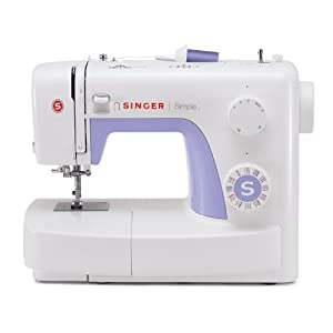 Singer 3232 Simple Portable Electric Sewing Machine with Automatic Needle Threader, 32 Stitches-6 Basic, 6 Stretch, 19 Decorative and 1 Buttonhole