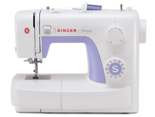 (SINGER | Simple 3232 Portable Sewing Machine with 32 Built-In Stitches Including 19 Decorative Stitches, Automatic Needle Threader and Free Arm, Best Sewing Machine for Beginners)