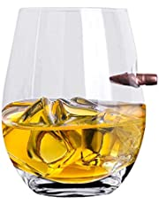 ZNEU Whiskyglas personlig, kreativ kula whisky vinglas – genomskinligt massivt kulglas glas, mycket lämpliga restauranger och hem, födelsedagspresent, whiskykopp med tjock botten för män (C)
