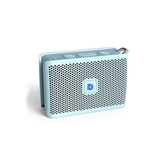 DOSS Genie Portable Bluetooth Speaker with Clean Sound, 33ft Bluetooth Range, Built-in Mic, Ultra-Portable Design, Perfect Wireless Speaker Compatible for Home, Outdoors, Travel – Ice Blue