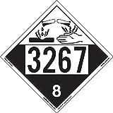 Labelmaster ZEZ43267 UN 3267 Corrosive Hazmat