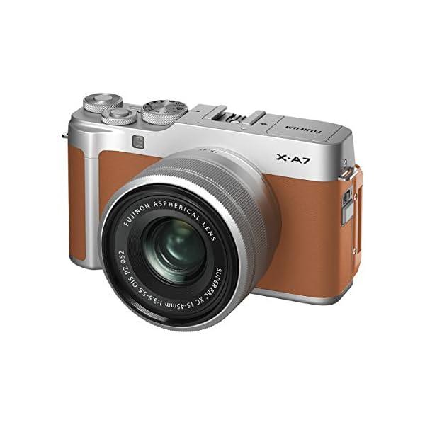 RetinaPix Fujifilm X-A7 24.2 MP Mirrorless Camera with XC 15-45 mm Lens, APS-C Sensor - Camel