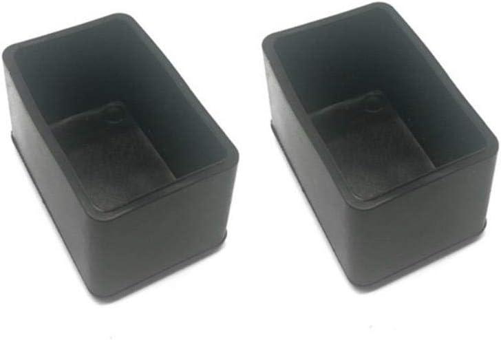 carr/é 20x20mm no brand 4 PCs//Set Noir Chaise Jambe Capuchons Pieds Protecteur Pads Meubles Table Couvre Chaussettes Trou Bouchons Cache-Poussi/ère Meubles Nivellement Pieds
