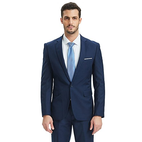 Henoo Men's Suit 2 Piece Set - Slim Fit Blazer Jacket for sale  Delivered anywhere in USA