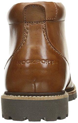 Rockport Mens Marshall Chukka Chukka Stivale In Pelle Cognac