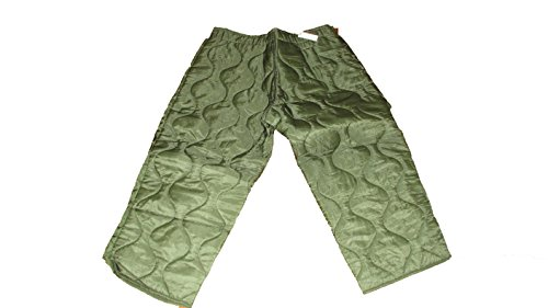 Trouser Liner - Military Field Pant Liner Cold Weather Trousers Quilted OD Green Large Long