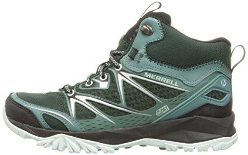 44951e427e1 Merrell Women's Capra Bolt Mid Waterproof Hiking Boot, Pine Grove, 9.5 M US