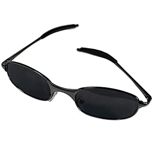 Black Matte Metal Frame Spy Sunglasses 360° Rearview with Black Carrying Case