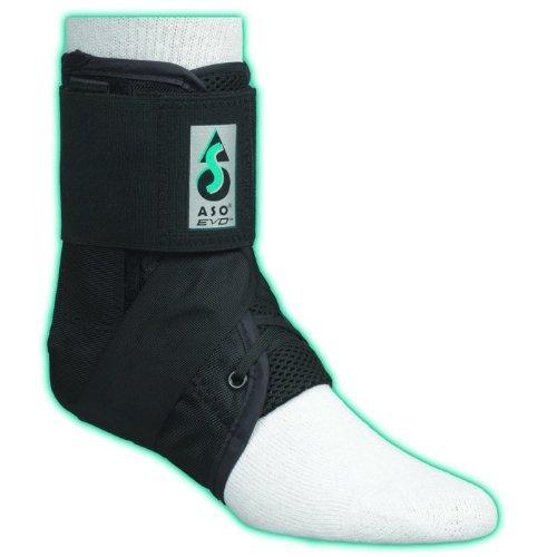 ASO EVO Ankle Stabilizer Brace (Small - Black) by Medspec/ASO Braces