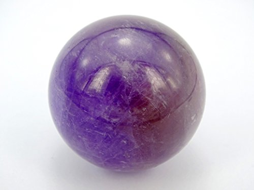 jennysun2010 1 piece Natural Amethyst Gemstone Collectibles Round Ball Crystal Healing Sphere Finger Health Massage Rock Stones 30mm With Wood Stand