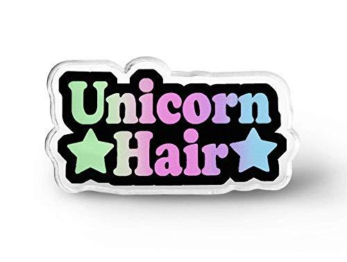 Unicorn Hair Word Lapel Pin - Fairy Kei, Magical Unicorn, Magical, Pastel Grunge, Soft Grunge, Unicorn Lapel Pin
