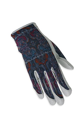 ht Hand Solaire Full Length Golf Glove, Medium, Grey Mosaic ()