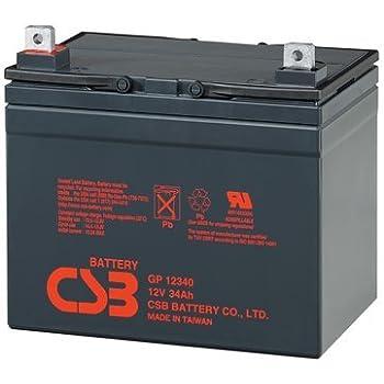 CSB GP12340 12 Volt 34 Amp Hour SLA Sealed Lead Acid Battery