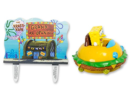 DecoPac SpongeBob SquarePants Krabby Patty Cake Topper Set]()