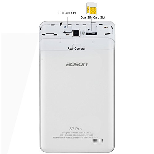 AOSON S7 Pro 7 Inch 4G LTE Unlocked Tablet Phone Call Android 6 0  Marshmallow MTK8735D Quad Core HD IPS Touch Screen 1GB RAM 8GB Storage  Wi-Fi