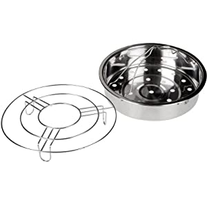 Ratings and reviews for Secura Stainless Steel 6-quart Electric Pressure Cooker Steam Rack Steamer Basket Insert Set