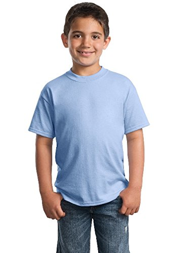 Port & Company 174 - Youth Core Blend Tee. PC55Y Large Light Blue