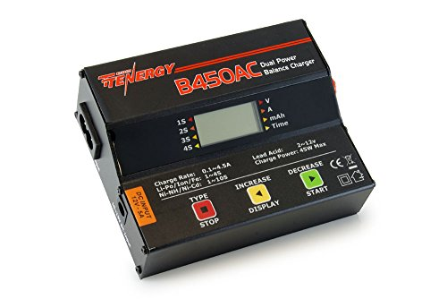 Tenergy B450AC 45W AC/DC Compact Balance Charger for NiMH NiCd LiPo Li-ion LiFePO4 Lead Acid Battery Packs