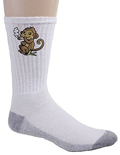 Crew Socks - Pot Smoking Pals Monkey
