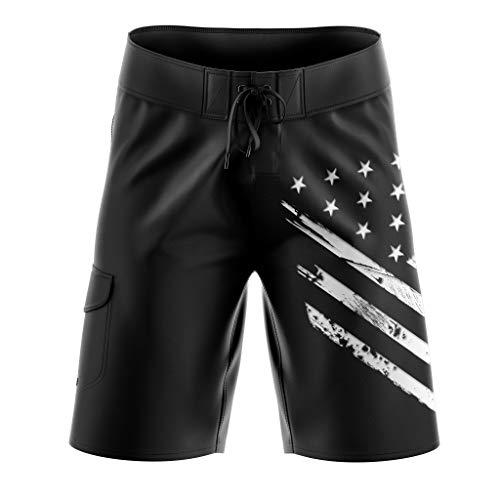 Tactical Pro Supply Black Camo Military Board Shorts - 30