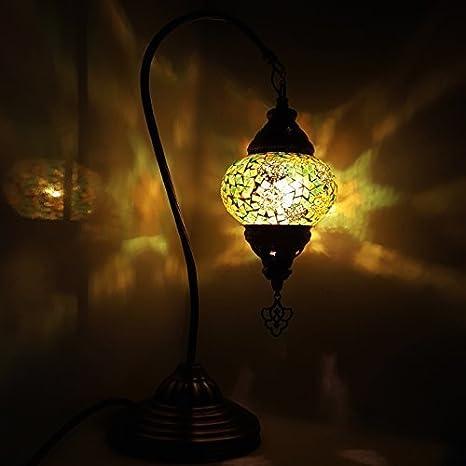 TURCA Lámpara/marroquí lámpara Tiffany Estilo Vidrio ...