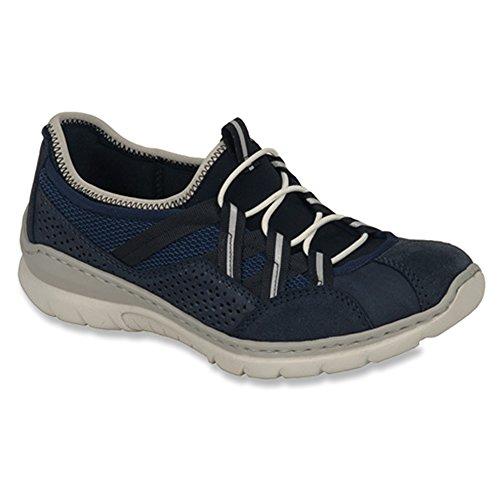 Rieker Womens Velveti / Kos / Airmesh / Sneak Fashion Sneakers Pacifico / Pacifico / Marino