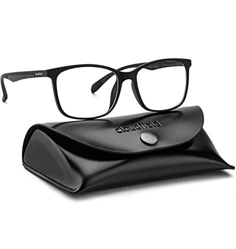 Blue Light Blocking Glasses for Women Men - Balck Square Nerd Eyeglasses Frame - Anti Blue Ray Computer Gaming Glasses - Transparent UV Lenses for Reading TV Phones