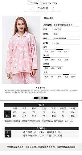 Coral 164cm Hengyu 57kg A Terciopelo Pijamas 47 Para 47 Mujer 57kg Gruesa L158 Traje Servicio L158 164cm Cálida Domicilio Franela De RrrtwxU