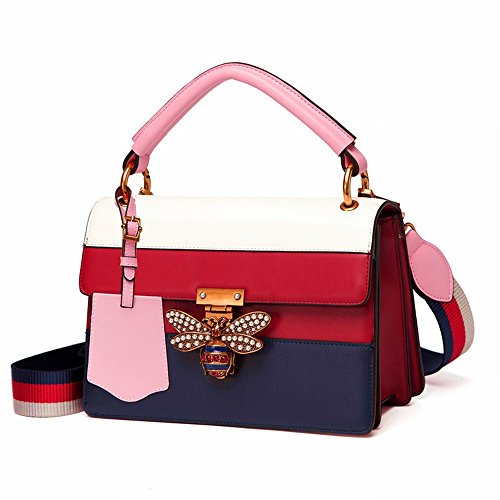 A Color Simple Bee Contracted Female Bag Handbag Pearl Lock nOBZSgBq8w