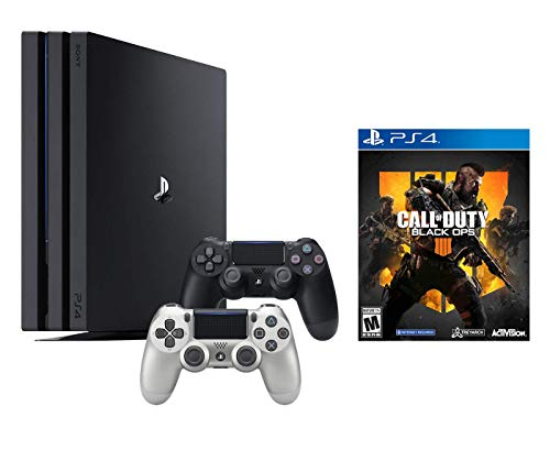 PlayStation 4 Call of Duty Black Ops IIII and 4K HDR PlayStation 4 Pro 1 TB Console with Extra Silver Dualshock 4 Wireless Controller (Split-Screen Play Available)